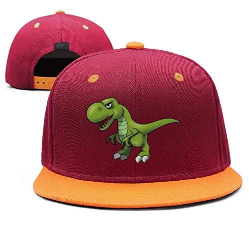 Kids T-Rex Cartoon Dinosaurs Falt Hat Snapback Baseball Cap. Tap to expand 2c4a16633633
