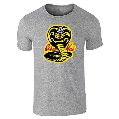 (Cobra Kai Karate Kid Dojo Retro Martial Arts Gray 3XL Short Sleeve T-Shirt)