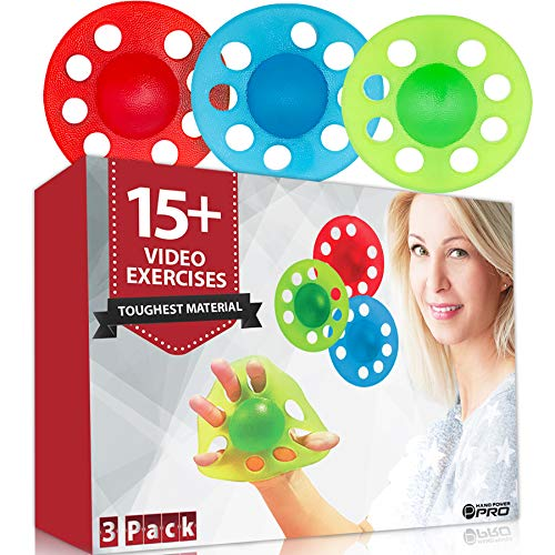 Pykal 3x Hand and Finger Strengtheners - 15+ VIDEO EXERCISES included with HAND POWER PRO | Finger Exerciser Hand Grip Strengthener For Seniors, Arthritis, Carpal Tunnel, Computer Users, Rock Climbers
