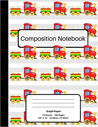 graph paper train composition notebook graph paper student