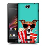 Head Case Designs Doggie At The Movies Funny Animals Protective Snap-on Hard Back Case Cover for Sony Xperia C C2305