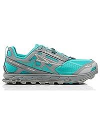 Altra AFW1855F Women's Lone Peak 4.0 Trail Running Shoe, Teal/Gray - 7 B(M) US