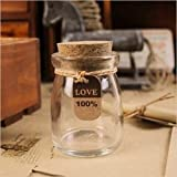 2PCS Cute Mini Clear Cork Stopper Glass Bottles Vials Jars Containers Small DIY Wishing Bottle Size 55x75mm by SY-001