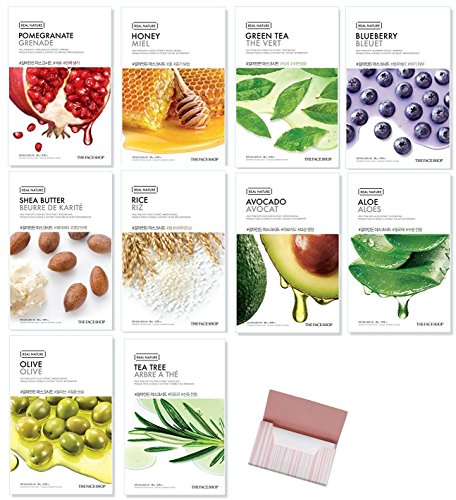 Facial Mask Sheets, Real Nature Full Face Masks Peel Off Di