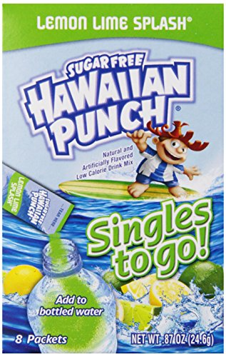 Hawaiian Punch Singles To Go Lemon Lime Splash, 8Packets (Pack of 12) (Lemon Lime Diet)