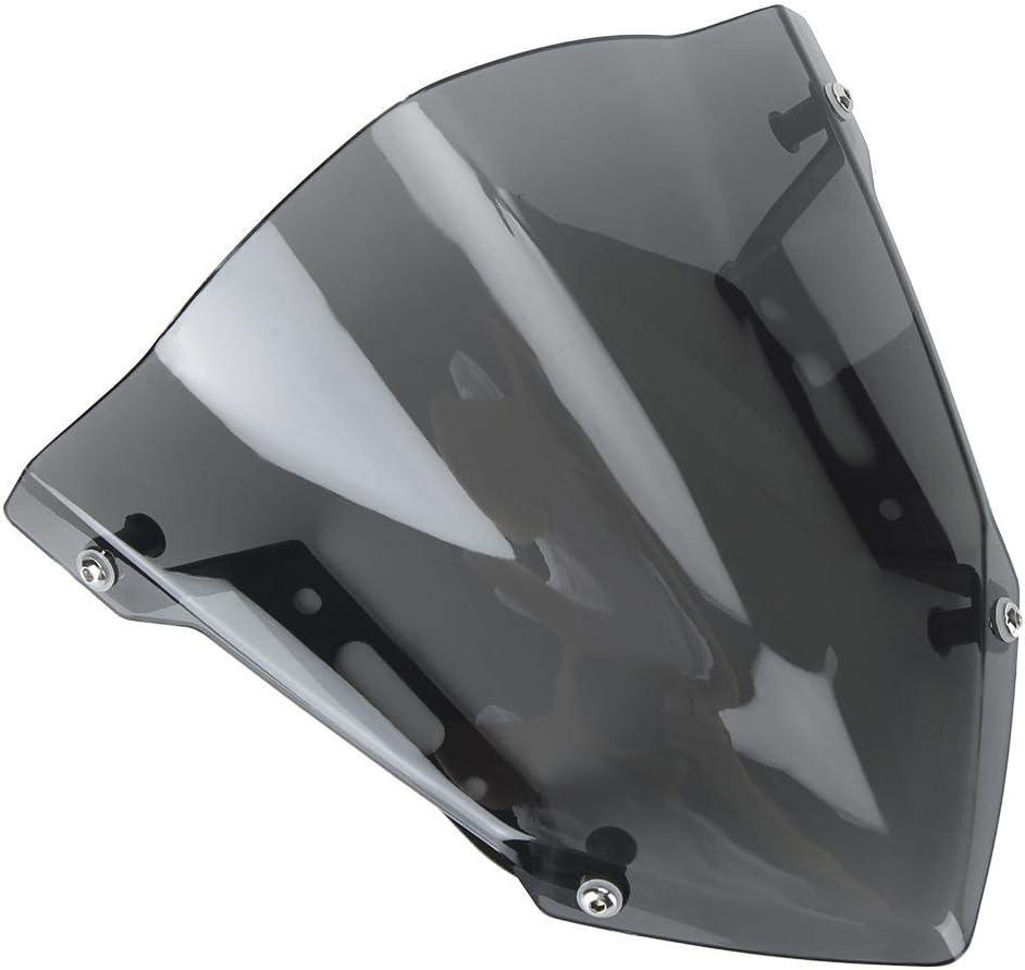 Parabrezza Parabrezza per motocicletta grigio chiaro Sport Style Add-on per parabrezza Adatto per YAMAHA MT-07//FZ-07 2018-2020