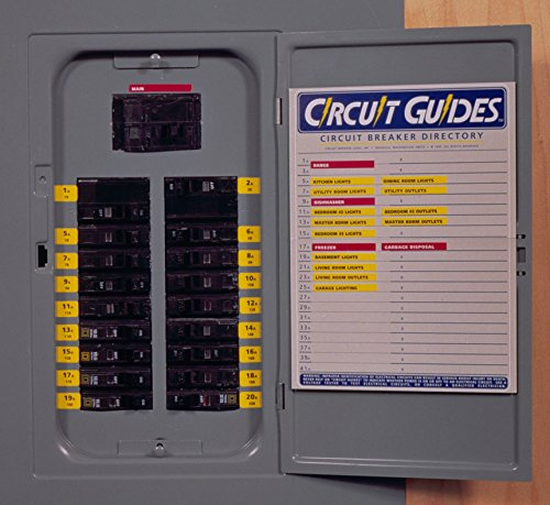 """Circuit Guides"" Kit. You Get 149 Identifier Labels – Plus a Circuit-Breaker Directory for Inside the Panel Cover"