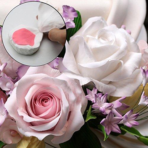KALAIEN 3D Rose Petals Silicone Mold Fondant Chocolate Molds Baking Cookie Moulds Soap Decorating Molds
