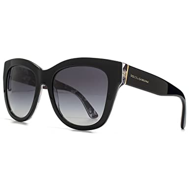 8501f0b82e Dolce   Gabbana Square Rose Print Sunglasses in Black on Rose DG4270 30218G  55 55 Gradient