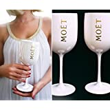 Moet Chandon Ice Imperial White Acrylic Champagne Glass by Moet