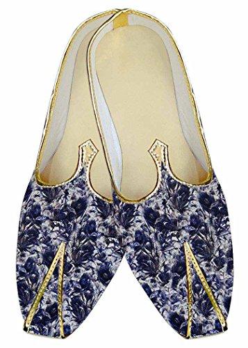 Schuhe MJ015970 Weiß Blau Gedruckt Hochzeit Herren INMONARCH U0B6w