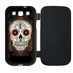 Custom Cool Skull Design Plastic Flip Case Cover Protector for Samsung Galaxy S3