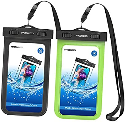 MoKo Funda Impermeable - [2-Pack] Waterproof Case Universal ...
