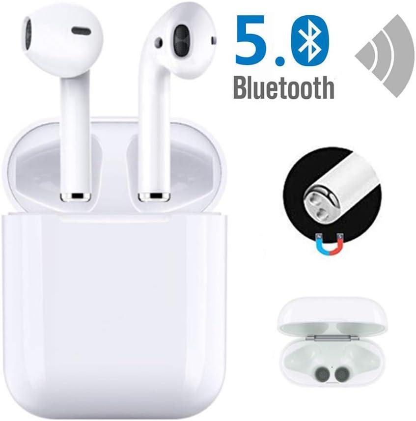 Bluetooth 5.0 Auriculares inalámbricos Bluetooth Auriculares internos IPX5 Auriculares Impermeables con cancelación de Ruido Auriculares inalámbricos portátiles para Airpods/iOS/Android