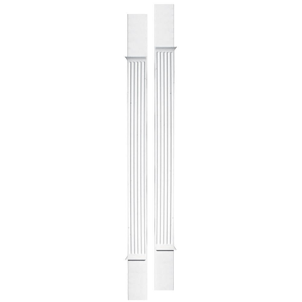 Builders Edge 100010008001 Door Surround Pilaster Kit 001, White