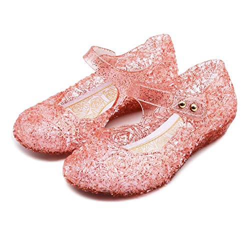 TANDEFLY Princess Girls Sandals Jelly Shoes Mary Jane for Toddler Kids Dance Party Cosplay