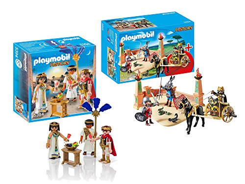 Playmobil History Playset Bundle with Gladiator Arena and Caesar & Cleopatra Playsets