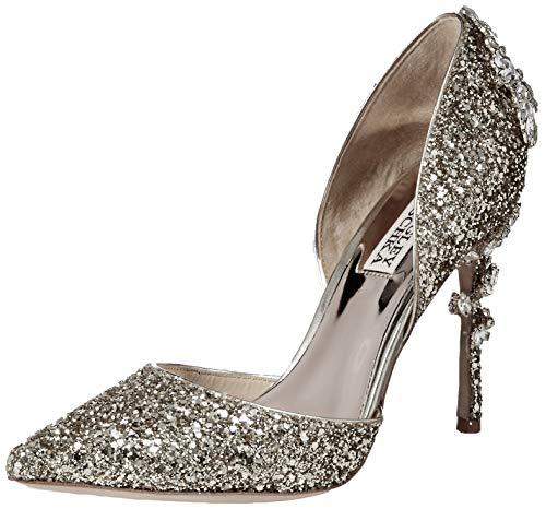 Badgley Mischka Women's Vogue III Pump, Silver Glitter, 8 M US from Badgley Mischka