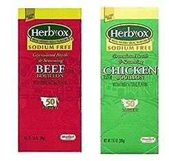 Herb-Ox Sodium Free Bouillon Bundle,`Bee...