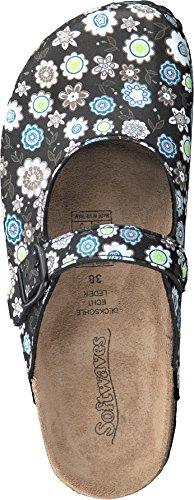 Softwaves - Zapatillas de casa Mujer Negro - negro y multicolor