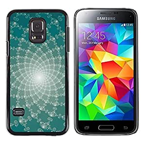 Paccase / SLIM PC / Aliminium Casa Carcasa Funda Case Cover - Abstract Floral Lines - Samsung Galaxy S5 Mini, SM-G800, NOT S5 REGULAR!