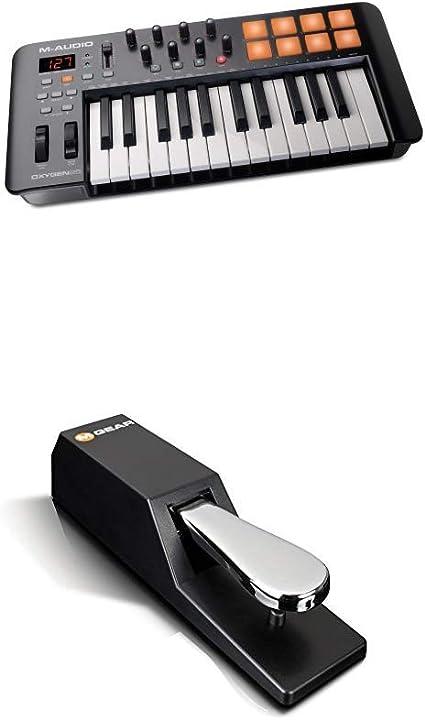 M-Audio Oxygen 25 IV + SP-2 - Teclado controlador MIDI USB de ...