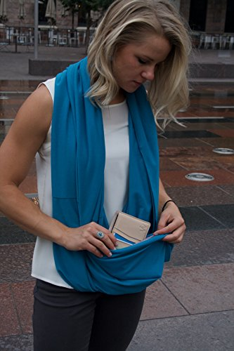 how to make an infinity scarf with a pocket