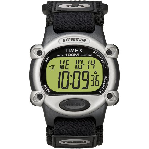 The Amazing Quality Timex Expedition Mens Chrono Alarm Timer Silver/Black ()