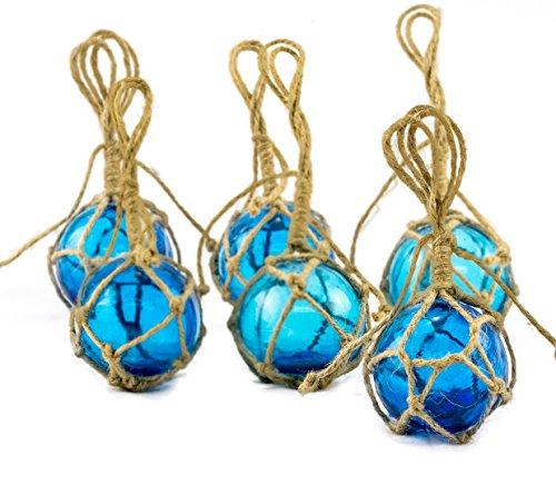 Aqua Glass Float Balls | Fishing Buoy Balls | Perfect for Beach Weddings or as Christmas Ornaments (3