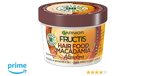 Garnier Fructis Hair Food Macadamia Mascarilla 3 en 1-390 ml: Amazon.es: Amazon Pantry