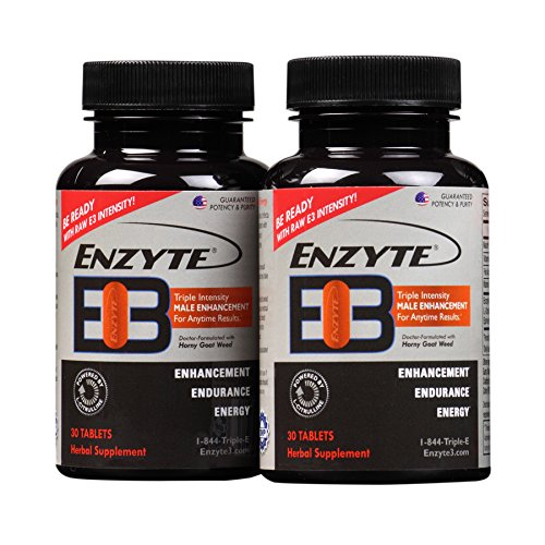 Enzyte3® | Triple Intensity Male Enhancement, Energy, Endurance Supplement – Sex Drive Booster for Men with L-Citrulline & Horny Goat Weed – 60 Tablets Review