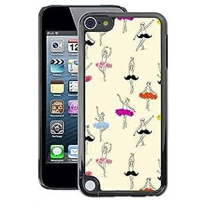 A-type Arte & diseño plástico duro Fundas Cover Cubre Hard Case Cover para Apple iPod Touch 5 (Dancer Ballet Ballerina Drawing Art)