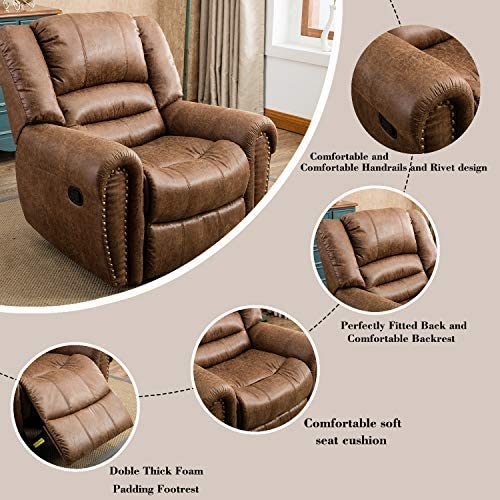 Bonzy Home Leather Recliner Chair