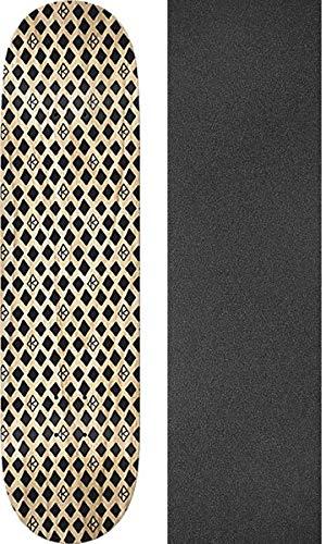 8.5 x 31.85 with Black Magic Black Griptape Krooked Skateboards Dymonds Black Skateboard Deck Bundle of 2 Items