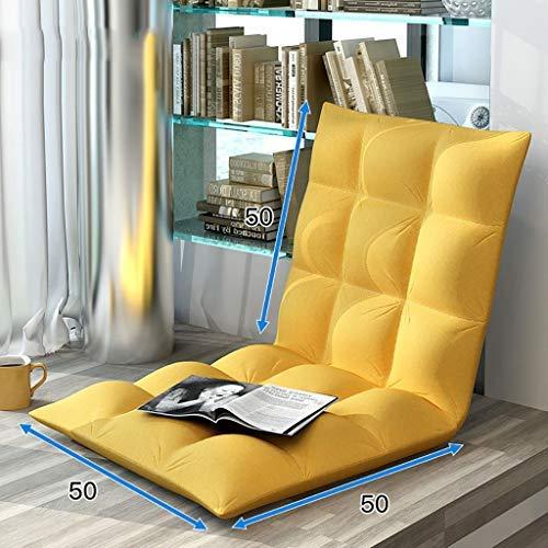 床怠惰なソファ床椅子 ゲーミングチェアとして使用するための背部サポート付き怠惰なソファチェア、10色(カラー:I) B07SYNKF7G I