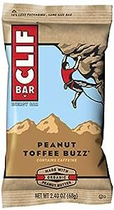 CLIF BAR - Energy Bar - Peanut Toffee Buzz - (2.4 Ounce Protein Bar, 12 Count)