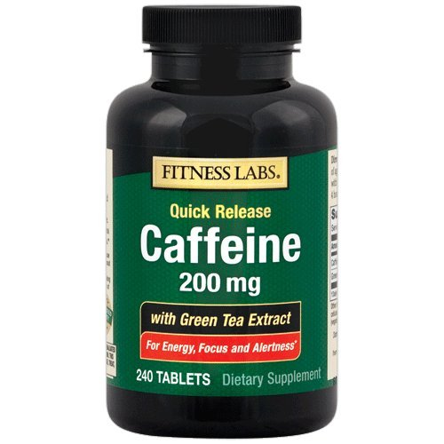 Fitness Labs Caffeine 200 Mg with Green Tea Extract, 240 Tablets