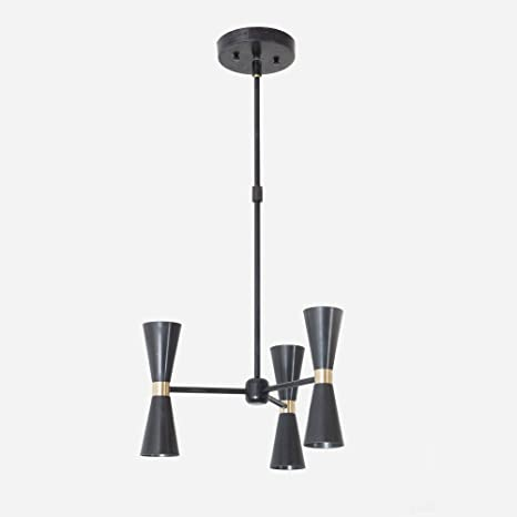 Modern chandelier black and brass mix 3 arm 6 light pinwheel bulb modern chandelier black and brass mix 3 arm 6 light pinwheel bulb sputnik mid century industrial aloadofball Image collections