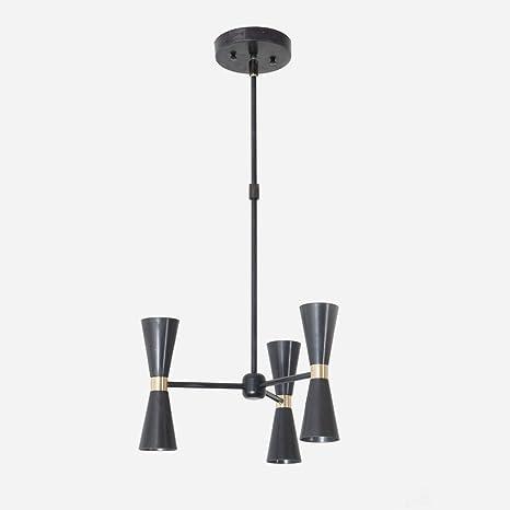 hot sale online 8bf75 3994c Modern Chandelier Black and Brass Mix 3 Arm 6 Light Pinwheel ...