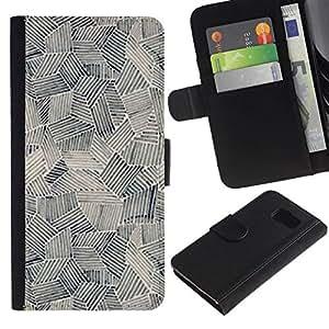 All Phone Most Case / Oferta Especial Cáscara Funda de cuero Monedero Cubierta de proteccion Caso / Wallet Case for Samsung Galaxy S6 // Art Painting Shapes Black White