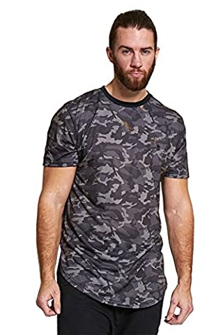 Mens Brave Soul Fish Tail Camouflage Army Camo Print T-shirt - Soul Fish