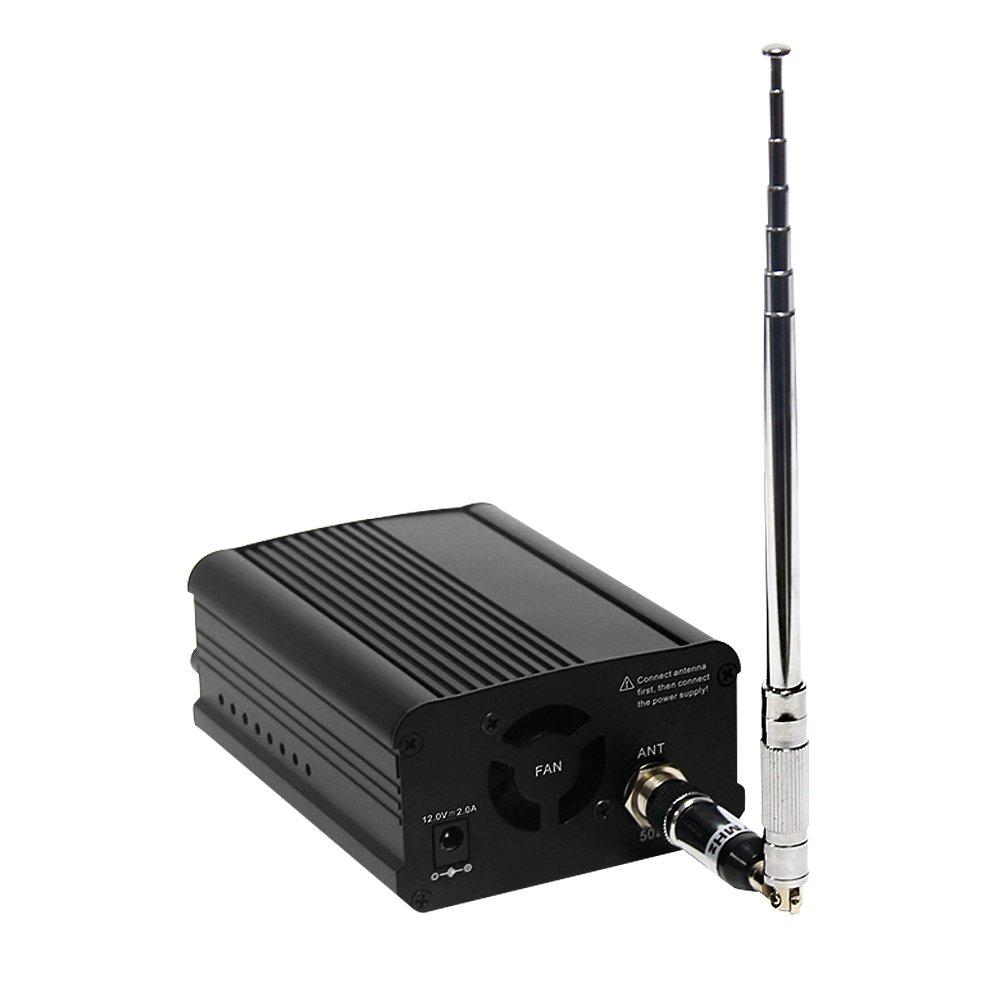 Signstek 7W 7C FM Transmitter Mini Radio Stereo Station PLL LCD with AntennaFashion Black by Signstek (Image #2)