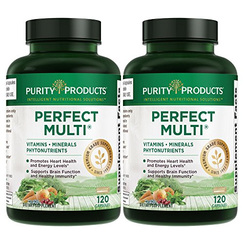 Perfect Multi - Multivitamin Packed w/Vitamins, Minerals & Phytonutrients - 120 Capsules from Purity Products (2 Pack) (Purity Products 120 Capsules)