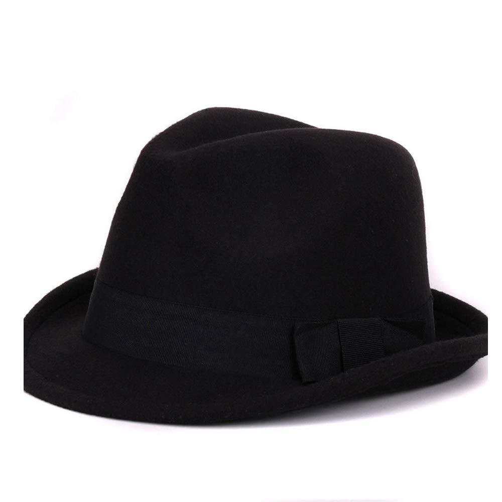 Fashion Autumn and Winter Womens Mens Fedora hat Elegant Ladies Church Jazz Cap Size 56-58CM Creative