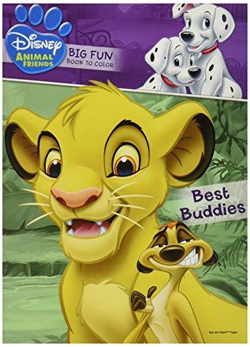 Disney Animal Friends ~ Big Fun Book to Color ~ Best Buddies!
