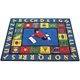 "Carpets for Kids 1612 Bilingual Spanish Kids Rug Size x x, 8'4"" x 11'8"", Blue"