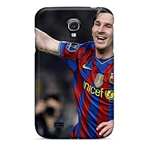 Hot Fashion Xsp1587JAIx Design Case Cover For Galaxy S4 Protective Case (the Player Of Barcelona Lionel Messi After Goal Ball)