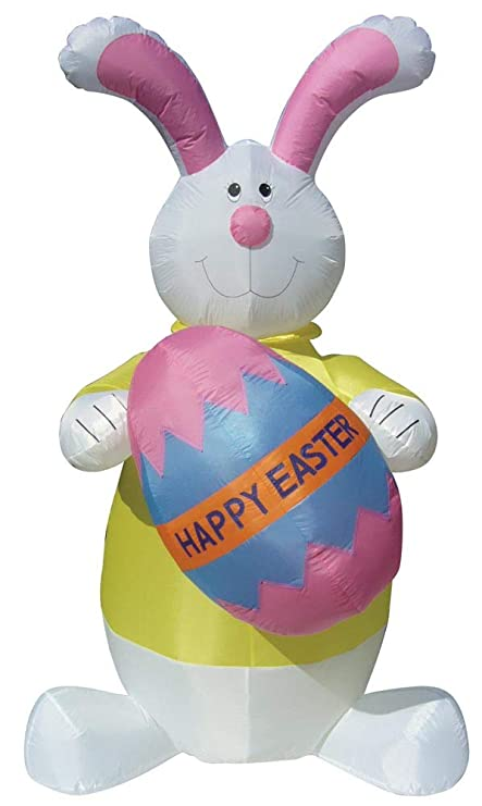 Amazon.com: Air Blown - Conejo hinchable de Pascua de 8.0 in ...