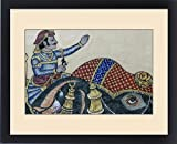 Framed Print of Mural. City Palace. Shiw Nivas Palace. Udaipur Rajasthan. India