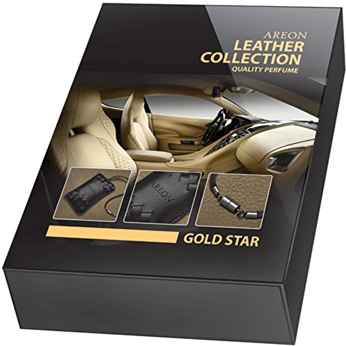 AREON GOLD STAR LEATHER COLLECTION Quality Perfume for Car - Air Freshener ... (1, GOLD)